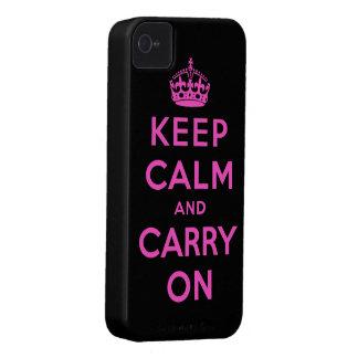 guarde la calma y continúe funda para iPhone 4 de Case-Mate