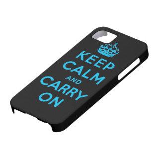 guarde la calma y continúe funda para iPhone 5 barely there