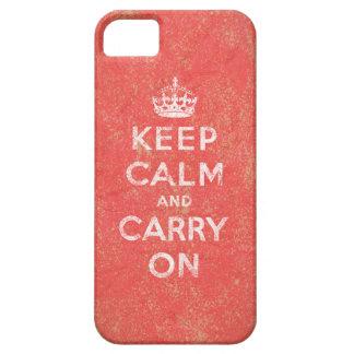 Guarde la calma y continúe funda para iPhone SE/5/5s