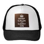 Guarde la calma y continúe gorras de camionero