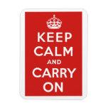 Guarde la calma y continúe iman flexible