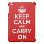 Guarde la calma y continúe iPad mini cárcasas