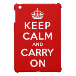 Guarde la calma y continúe iPad mini protectores