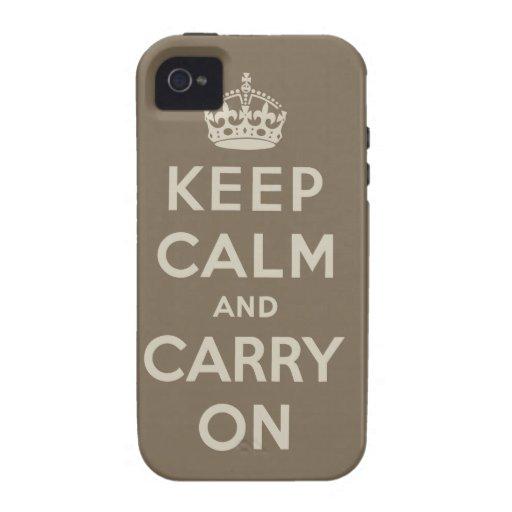 Guarde la calma y continúe iPhone 4/4S carcasa