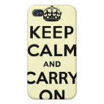Guarde la calma y continúe iPhone 4/4S funda
