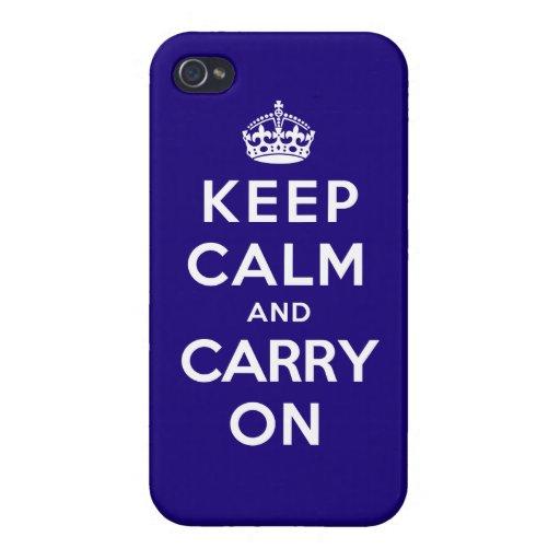 Guarde la calma y continúe iPhone 4 carcasas