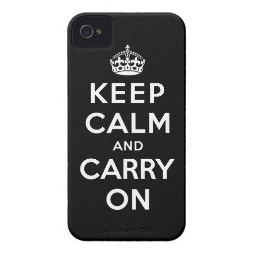 Guarde la calma y continúe iPhone 4 coberturas