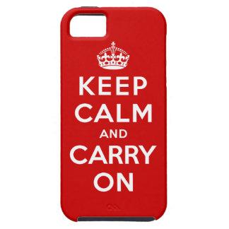 Guarde la calma y continúe iPhone 5 carcasas