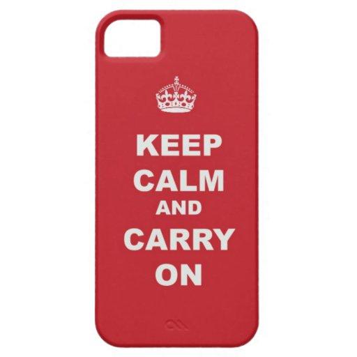 Guarde la calma y continúe iPhone 5 coberturas