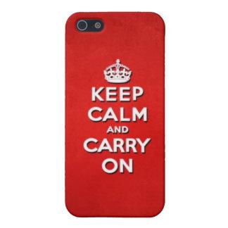 Guarde la calma y continúe iPhone 5 funda