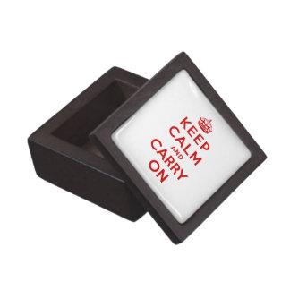 Guarde la calma y continúe la caja de regalo super caja de regalo de calidad