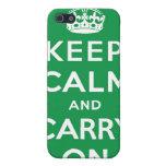 Guarde la calma y continúe la caja verde del iPhon iPhone 5 Funda