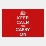 Guarde la calma y continúe la muestra roja de la y