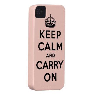 guarde la calma y continúe la original carcasa para iPhone 4