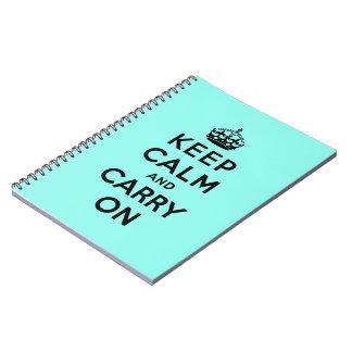 guarde la calma y continúe la original cuadernos
