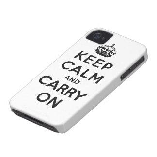 guarde la calma y continúe la original iPhone 4 Case-Mate funda