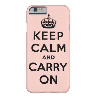 guarde la calma y continúe la original funda para iPhone 6 barely there