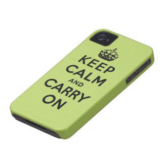guarde la calma y continúe la original Case-Mate iPhone 4 protectores