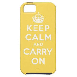 guarde la calma y continúe la original iPhone 5 cobertura