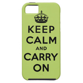 guarde la calma y continúe la original iPhone 5 Case-Mate protector