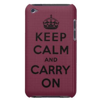 guarde la calma y continúe la original iPod Case-Mate funda