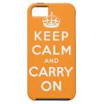 guarde la calma y continúe la original iPhone 5 Case-Mate carcasas