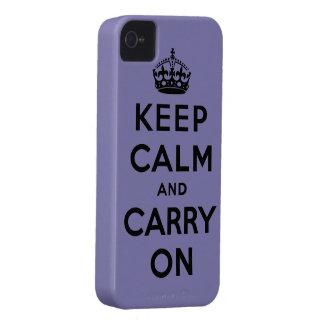 guarde la calma y continúe la original iPhone 4 Case-Mate cárcasas