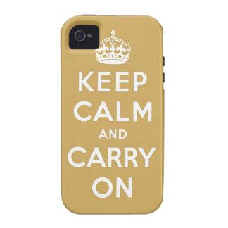 guarde la calma y continúe la original iPhone 4/4S funda