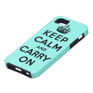 guarde la calma y continúe la original iPhone 5 coberturas