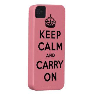 guarde la calma y continúe la original Case-Mate iPhone 4 cárcasas