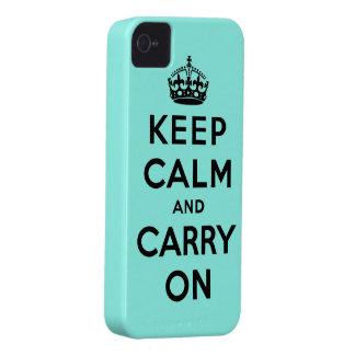 guarde la calma y continúe la original iPhone 4 Case-Mate cárcasa