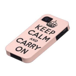 guarde la calma y continúe la original vibe iPhone 4 carcasas