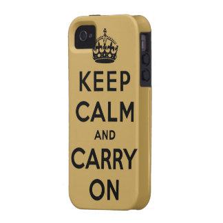 guarde la calma y continúe la original Case-Mate iPhone 4 carcasa