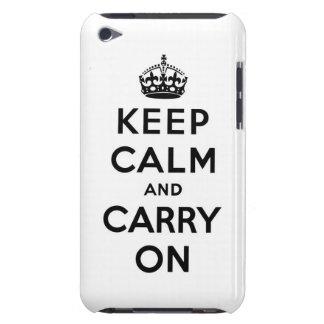 guarde la calma y continúe la original Case-Mate iPod touch cárcasa