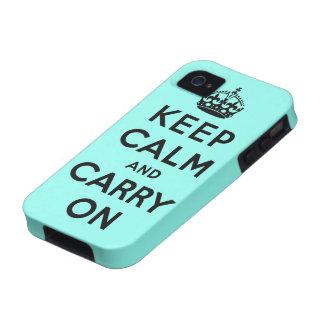 guarde la calma y continúe la original vibe iPhone 4 funda