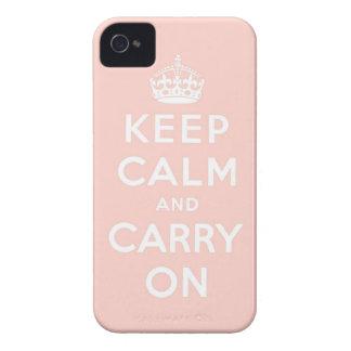 guarde la calma y continúe la original iPhone 4 Case-Mate fundas