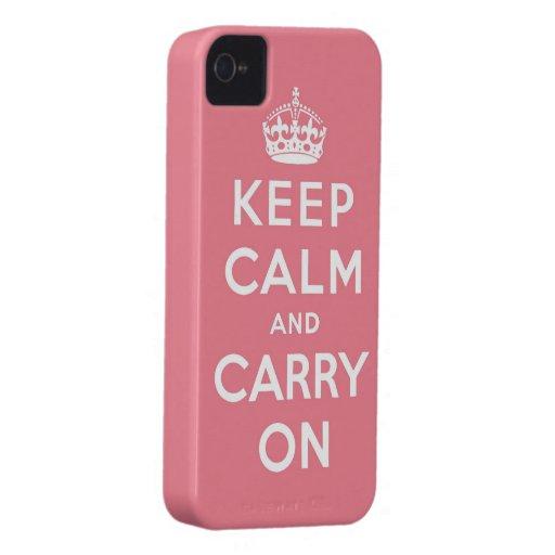 guarde la calma y continúe la original iPhone 4 Case-Mate coberturas