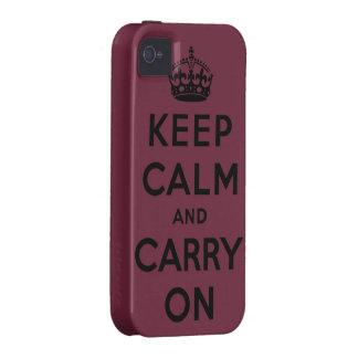 guarde la calma y continúe la original Case-Mate iPhone 4 funda