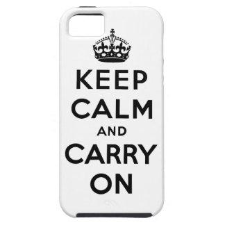 guarde la calma y continúe la original iPhone 5 Case-Mate fundas