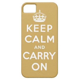 guarde la calma y continúe la original iPhone 5 Case-Mate cárcasa