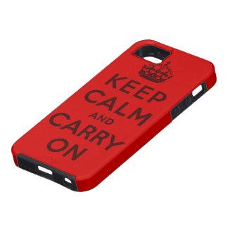 guarde la calma y continúe la original iPhone 5 Case-Mate protectores