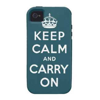 guarde la calma y continúe la original iPhone 4/4S fundas