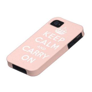 guarde la calma y continúe la original iPhone 4 funda