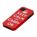 guarde la calma y continúe la original Case-Mate iPhone 4 carcasas