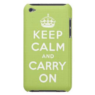 guarde la calma y continúe la original iPod touch carcasa
