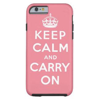 guarde la calma y continúe la original funda de iPhone 6 tough