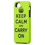guarde la calma y continúe la original iPhone 5 carcasa