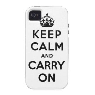 guarde la calma y continúe la original iPhone 4 carcasa