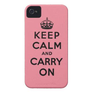 guarde la calma y continúe la original Case-Mate iPhone 4 fundas