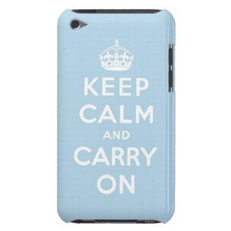 guarde la calma y continúe la original iPod touch Case-Mate funda